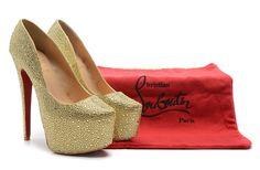 $138 for Christian Louboutin High Heel. Buy Now! http://hellodealpretty.com/Christian-Louboutin-High-Heel--093-productview-157572.html #Christian_Louboutin #High_Heel