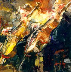 """The Cellists"" by Stephen Shortridge — Limited Editions Gallery   Shortridge Fine Art, Coeur d'Alene, Idaho"