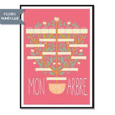 Affiche Numérique - Arbre Généalogique - a télécharger et à imprimer : Décorations murales par affiche-rgb4you