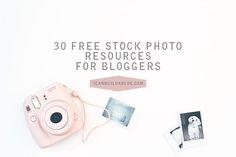 Sometimes not all of us bloggers can take our own photographs, and that's exactly why stock photo...