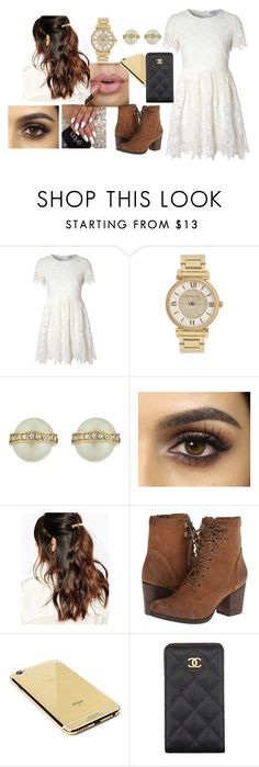 """""""Untitled #465"""" by anasofiasousavieira on Polyvore featuring Glamorous, Michael Kors, Kate Spade, Suzywan DELUXE, Madden Girl, Goldgenie and Chanel"""