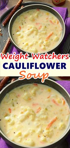 OMG! Just made this soup for the first time tonight and it is delicious!! Super easy and fast too and given low fat milk, a little butter and cheese, pretty healthy. This will be a new staple!! #cauliflower_soup #Skinnyrecipes #skinny #weightwatchers #weightwatchersrecipes #weight_watchers #soups #food #cauliflowersoup #healthysoup #smartpoints #WWrecipes #healthyrecipes #letseat #recipesideas #cauliflower_soup_recipe #homemade #lowcarb #ketorecipes #healthy #healthyeating #recipes