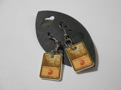 Magic the Gathering Mini Mana Earrings Red by JaeCryst on Etsy, $5.00