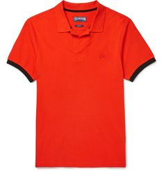 VILEBREQUIN Palatin Contrast-Tipped Cotton-Piqué Polo Shirt. #vilebrequin #cloth #polos