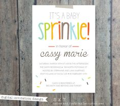 CIJ SALE baby shower invitation Boy Sprinkle baby by PrintSmitten, $15.00