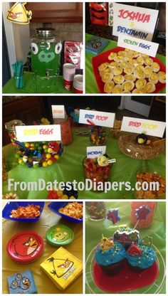 angry birds birthday party setup