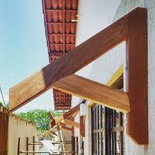 Imagini pentru como fazer mao francesa telhado Door Overhang, Woodworking Projects, Backyard, Outdoor Structures, Doors, Home Decor, Gabriel, Decor Ideas, Ideas