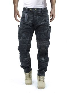Amazon.com : Survival Tactical Gear Men's Airsoft Wargame Tactical Pants with Knee Protection System & Air Circulation System (Typhon Camo, S) : Sports & Outdoors