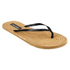 22cff3fe3012e Women s Jams World Flip Flop Sandals - Black 10 Flip Flop Sandals