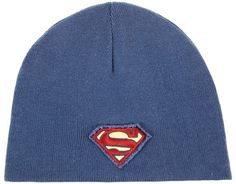 This product features Superman embroidered logo on reversible navy beanie. One size fits most. Officially licensed product. #valentinesday