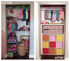Doing a version of this in her closet TODAY. Maybe I'll pin it!  DIY Custom Closet Makeover | Cape27Blog.com