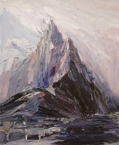 Guy Maestri: Last light over Ball's Pyramid :: Wynne Prize 2013 :: Art Gallery NSW Landscape Artwork, Abstract Landscape, Abstract Art, Australian Painting, Australian Artists, Inspiration Art, Art Inspo, Mountain Art, Mountain Paintings
