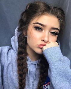 Red Inward Braids for Rocking Queens - 20 Under Braids Ideas to Disclose Your Natural Beauty - The Trending Hairstyle Pretty Hairstyles, Braided Hairstyles, Hairstyles Tumblr, Lazy Day Hairstyles, Softball Hairstyles, Sporty Hairstyles, Heatless Hairstyles, Instagram Hairstyles, Long Face Hairstyles