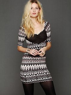 Printed Long Sleeve Bodycon. http://www.freepeople.com/whats-new/printed-long-sleeve-bodycon/