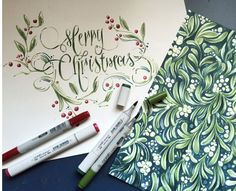 Creating Unique & Detailed Christmas-themed Copic Artwork by Gentian Osman