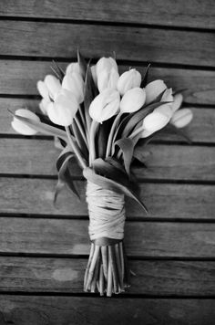Flowers Black and White Photography