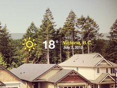 Dribbble - Current weather by 3magine