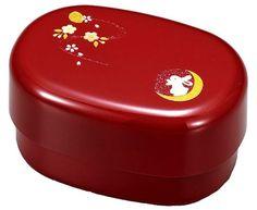 Japanese Bento Lunch Box Hakoya Range Club Four-seasons Rabbit Oval Shape Sakura RED 50933