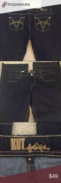 Kut from Kloth Maggy Flare sz 8 Practically new, worn once! 98 % cotton 2% spandex. Has an unaltered inseam of 31.5 Kut from the Kloth Jeans Flare & Wide Leg