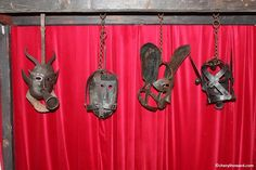 Masks Worn By Petty Criminals. Museum of Torture, Prague