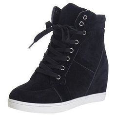 Amazon.com | Christmas T&Mates Womens Casual Round Toe High Top Lace... ($28) ❤ liked on Polyvore featuring shoes, sneakers, nubuck shoes, christmas shoes, hidden wedge shoes, hidden wedge high tops and high top sneakers