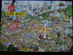 """A Gibsons 1000 piece puzzle by Mike Jupp titled I Love Car Boot Sales FOR SALE • £1.99 • See Photos! Money Back Guarantee. A Gibsons 1000 piece puzzle by Mike Jupp titled """" I Love Car Boot Sales """" The puzzle is complete with both box and pieces in very good condition.The edge 132001436929"""