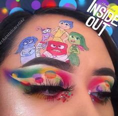 eyes eyeshadow makeup inspiration inside out disney Makeup Eye Looks, Eye Makeup Art, Colorful Eye Makeup, Crazy Makeup, Eyeshadow Makeup, Eyeliner, Fairy Makeup, Mermaid Makeup, Eyeshadows