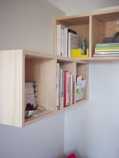 """So, we left the premium grade pine untouched, unstained and completely lovely:    [caption id="""""""" align=""""aligncenter"""" width=""""599"""" caption=""""Gah! This wood is gorgeous.""""][/caption]    We chose to design a corner unit to exist directly behind my office chair, creating the perfect storage solution for referencing ..."""