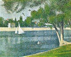 """Seine Grande Jatte,"" Georges Seurat photo seurat2-1.jpg Inspiration for color scheme in bathroom"