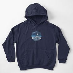 """""""Mountains and space stars"""" Kids Pullover Hoodie by ind3finite 