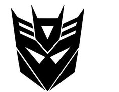 """Decepticon from Transformer Vinyl Sticker Decal (Black, 12"""" x 10"""") - Brought to you by Avarsha.com"""