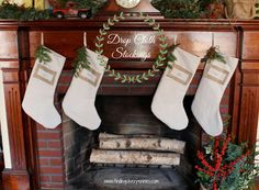 Silver Pennies: DIY Drop Cloth Christmas Stockings - easy and affordable stockings for your family!