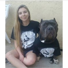 Paige and Wallstreet supporting their favorite senior Beagle, Wally aka Wallelujah! You can find this awesome T-shirt at www.ipittythebull.com order now before these designs are gone! You can Follow Wallstreet on IG @woof_of_wallstreet