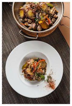 Cataplana de galinha batata-doce e amêijoas. Créditos Telma Verissimo