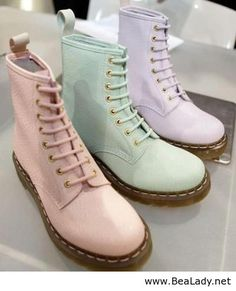 The definition of Spring cool - pastel Doc Martens