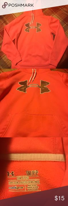 Under Armour hoodie Pink Women's Under Armour hoodie. Excellent used condition. Size small Under Armour Tops Sweatshirts & Hoodies