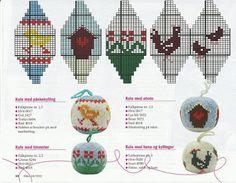 Knit Christmas Ornaments, Diy Christmas Presents, Christmas Stocking Stuffers, Christmas Knitting, Christmas Bells, Holiday Crafts, Xmas, Knitting Charts, Knitting Patterns