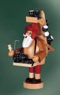 KWO German Full Size Smokers Christmas and Winter Figures German Christmas Decorations, Christmas Lights, Christmas Holidays, Christmas Tree, German Nutcrackers, Wooden Advent Calendar, German Folk, Nutcracker Christmas, All Craft