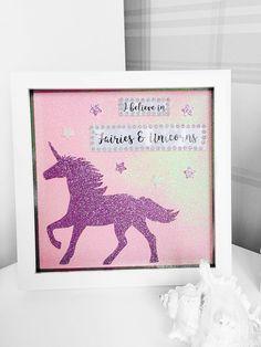 Unicorn Frame I Believe in Unicorns and Fairies Unicorn Box