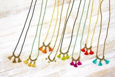 Coming soon! Picasso a Tassel necklaces