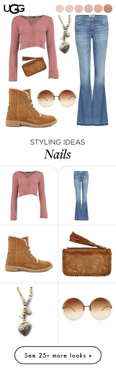 """The New Classics With UGG: Contest Entry"" by juliet-elizabeth-george on Polyvore featuring UGG, Current/Elliott, Linda Farrow, Deborah Lippmann, Rue Stiic and ugg"