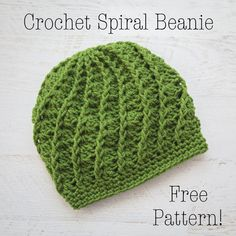 Crochet Hat Free Crochet Pattern Spiral Crochet Beanie, Crochet Beanie Tutorial, Crochet Hat Pattern - Slouchy Spiral Hat Free Crochet Pattern is surprisingly straight forward and very easy to create. It works up quickly in all double crochet stitches. Crochet Adult Hat, Bonnet Crochet, Crochet Beanie Pattern, Crochet Cap, Crochet Scarves, Crochet Stitches, Free Crochet, Crochet Patterns, Ribbed Crochet