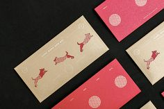 Red packets 2018 - The year of the dog on Behance Envelope Design, Red Envelope, Layout Design, Print Design, Graphic Design, Packaging Design, Branding Design, Red Packet, Chinese Design