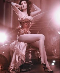 dita von teese with melissa shoes by jen paul gaultier