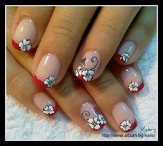 Red french by valera - Nail Art Gallery nailartgallery.nailsmag.com by Nails Magazine www.nailsmag.com #nailart