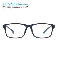 1e4476c6054 Lightweight Plastic Square Spectacles Men Big Computer Glasses Anti Blue  Light Eyewear For Prescription Lenses