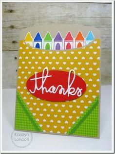 Created a mock crayon box with the Silhouette.  Good teacher card!