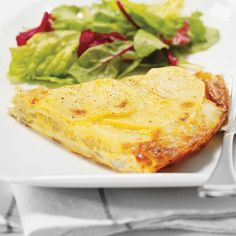 Potato and Onion Frittata Ricardo Recipe, Brunch, Omelettes, Quiches, Mets, Italian Dishes, Meatless Monday, Food To Make, Main Dishes