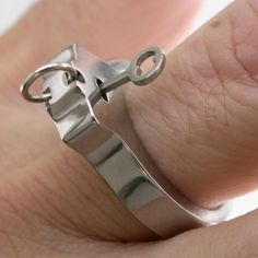 Titanium WORKING Handcuff ring by boonerings
