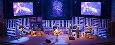 Church Stage Design Ideas | Scenic sets and stage design ideas from churches around the globe.